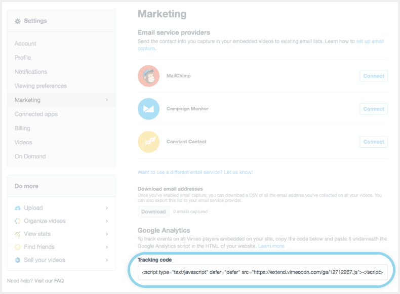 google tag manager vimeo tracking script