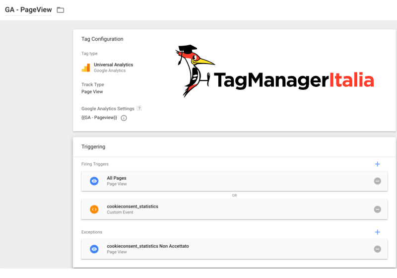 step 6 gestire google analytics con cookiebot google tag manager