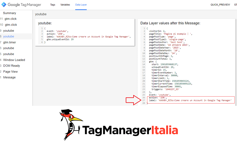datalayer tracciare video youtube embeddati google tag manager