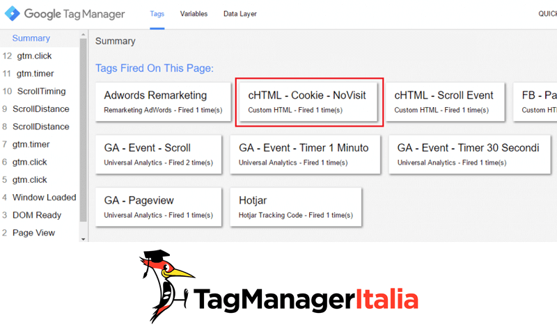 verifica esclusione cookie google tag manager step2